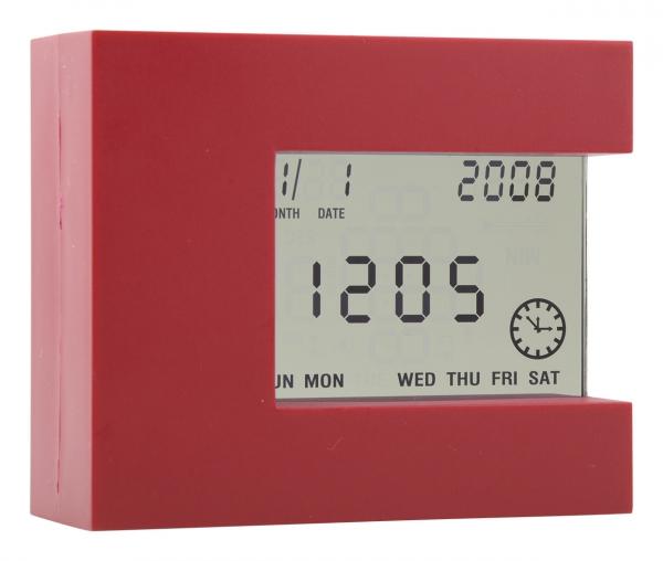 Цифровые настольные часы Nester красные
