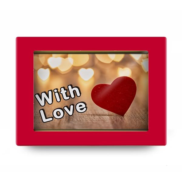 Шоколадная открытка With Love
