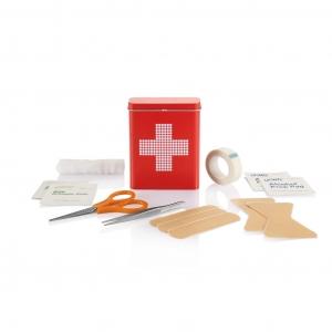 Аптечка первой помощи, жестяная коробка